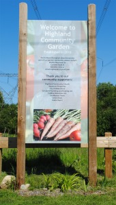 Highland Community Garden Sign