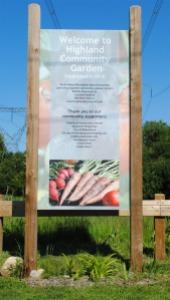 Highland Community Garden Sign